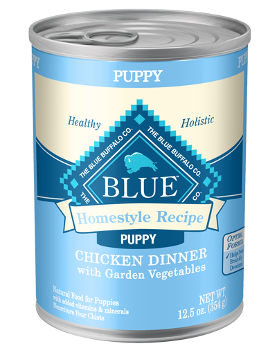 Picture of Blue Buffalo Homestyle Recipe Chicken Dinner with Garden Vegetables for Puppies - 12.5 oz.