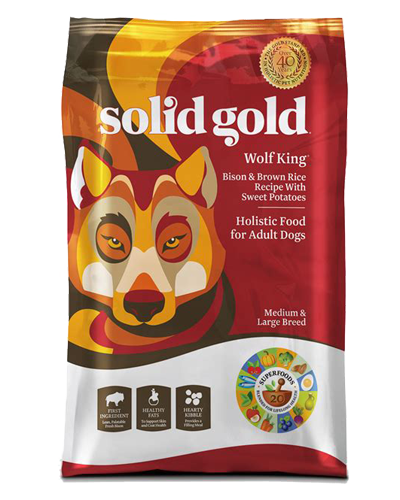 Picture of Solid Gold Adult Wolf King with Bison & Brown Rice with Sweet Potatoes - 24 lbs.