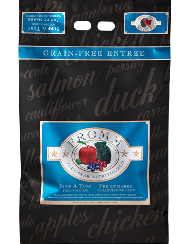 Picture of Fromm Four Star Grain Free Surf and Turf Entrée with Salmon and Duck - 12 lb.