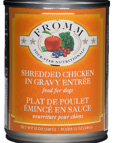 Picture of Fromm Four Star Shredded Chicken in Gravy Entrée - 12 oz.