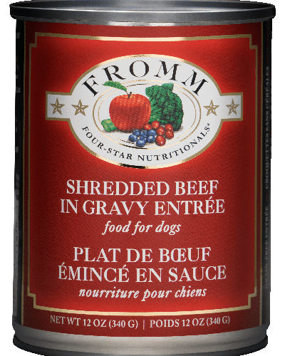 Picture of Fromm Four Star Shredded Beef in Gravy Entrée - 12 oz.