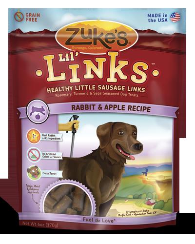 Picture of Zuke's Lil' Links Grain Free Rabbit & Apple Recipe - 6 oz.