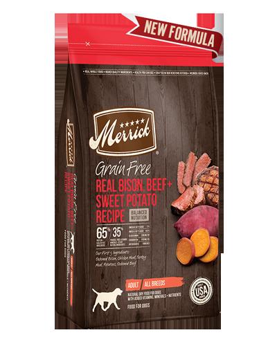 Picture of Merrick Grain Free Real Buffalo + Sweet Potato Recipe - 4 lbs.