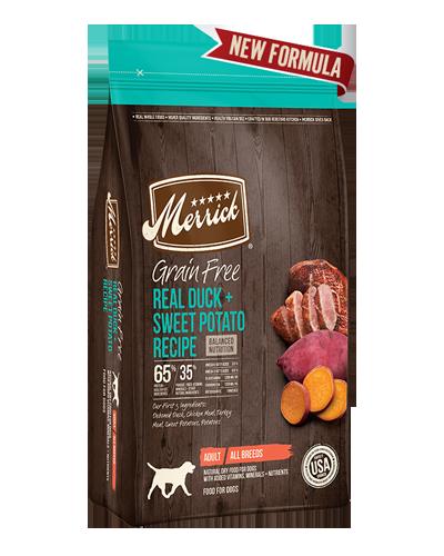 Picture of Merrick Grain Free Real Duck + Sweet Potato Recipe - 12 lbs.