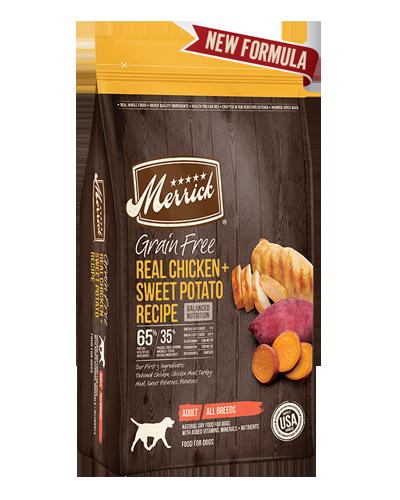 Picture of Merrick Grain Free Real Chicken + Sweet Potato Recipe - 25 lbs.