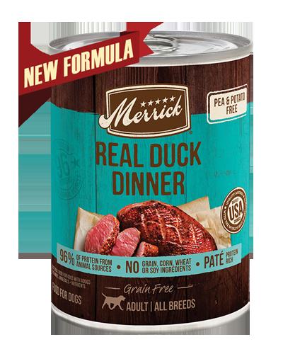 Picture of Merrick Grain Free 96% Real Duck Formula - 13.2 oz.
