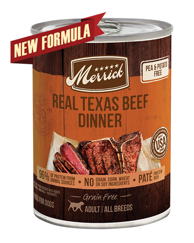 Picture of Merrick Grain Free 96% Real Texas Beef Formula - 13.2 oz.