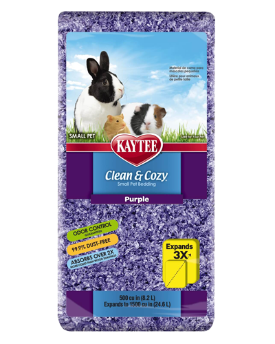 Picture of Kaytee Clean & Cozy Purple Bedding - 8.2 L