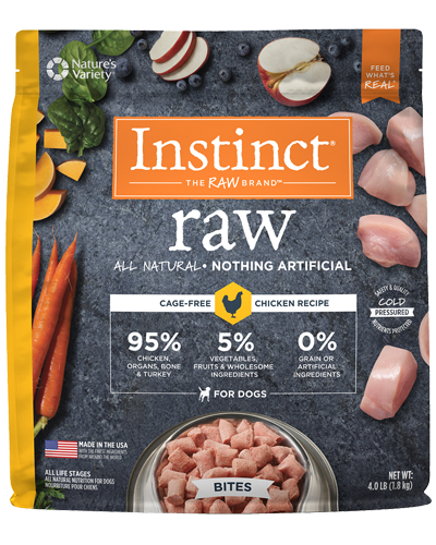 Picture of Nature's Variety Instinct Raw Signature Frozen Bites Real Chicken - 4 lbs.