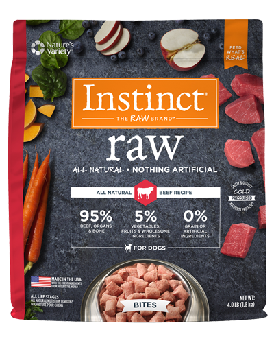 Picture of Nature's Variety Instinct Raw Signature Frozen Bites Real Beef - 4 lbs.