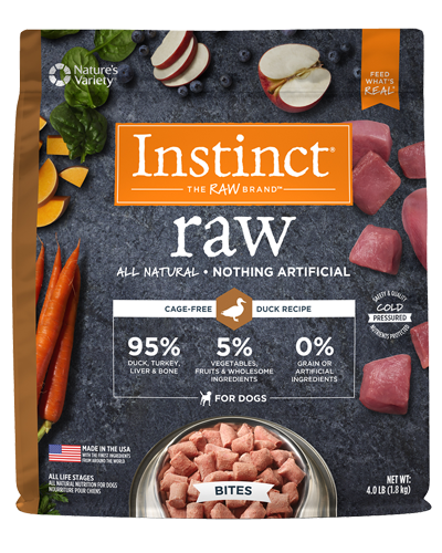 Picture of Nature's Variety Instinct Raw Signature Frozen Bites Real Duck - 4 lbs.