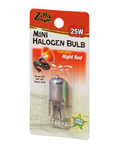 Picture of Zilla Night Red Mini Halogen Bulb - 25 Watt