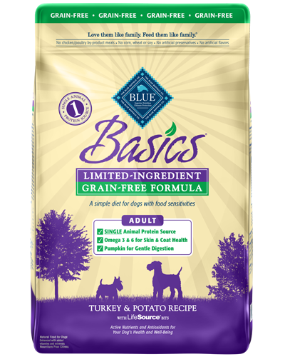 Picture of Blue Buffalo Basics Grain Free Turkey and Potato Recipe - 24 lb.