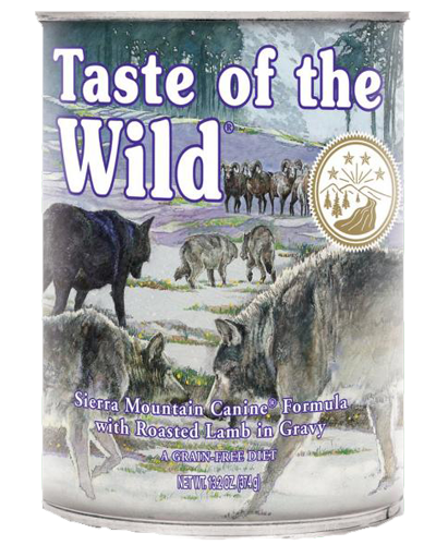 Picture of Taste Of The Wild Grain Free Sierra Mountain Recipe with Lamb in Gravy - 13.2 oz.
