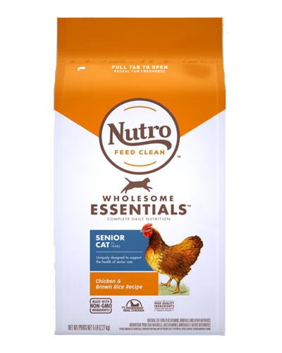 Picture of Nutro Wholesome Essentials Chicken & Whole Brown Rice  Indoor Senior - 3 lbs.