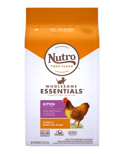 Picture of Nutro Wholesome Essentials Chicken & Whole Brown Rice Kitten - 3 lbs.