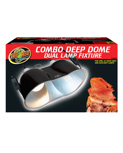Picture of ZooMed Labs Combo Deep Dome Dual Lamp Fixture