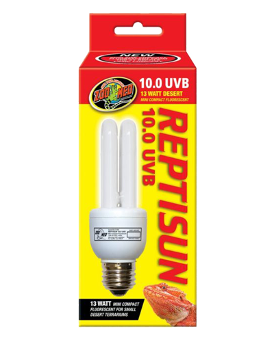 Picture of ZooMed Labs ReptiSun 10.0 UVB Mini Compact Fluorescent Bulb - 13 Watt