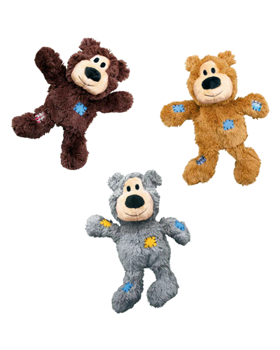 "Picture of KONG Wild Knots Squeaker Bears Medium - 6"" Assorted Colors"