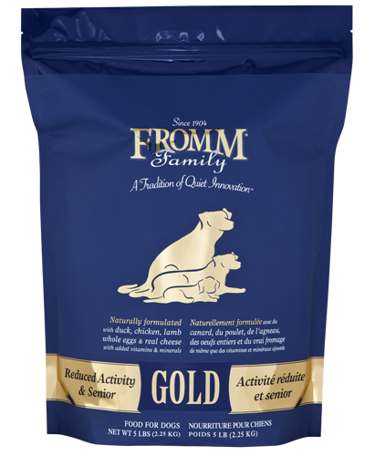 Picture of Fromm Gold Reduced Activity and Senior Formula with Duck and Chicken - 5 lb.