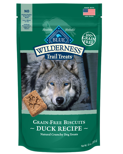 Picture of Blue Buffalo Wilderness Trail Treats Grain Free Natural Crunchy Duck Biscuits - 10 oz.