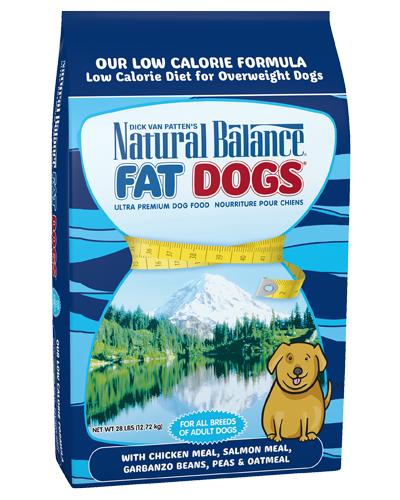 Picture of Natural Balance Fat Dogs Low Calorie Formula with Chicken Meal, Salmon Meal, and Garbanzo Beans - 28 lb.