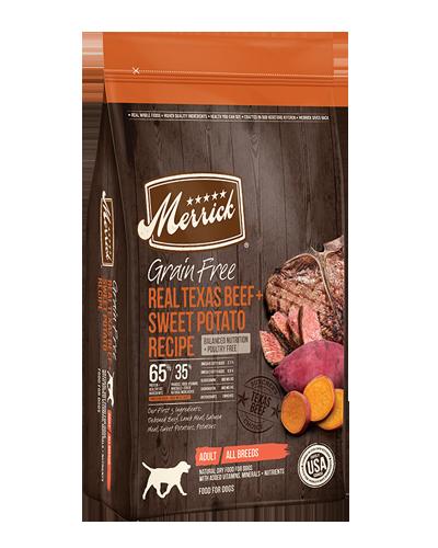 Picture of Merrick Grain Free Real Texas Beef + Sweet Potato Recipe - 12 lbs.