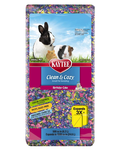 Picture of Kaytee Clean & Cozy Birthday Cake Bedding - 8.2 L