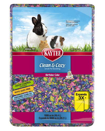 Picture of Kaytee Clean & Cozy Birthday Cake Bedding - 16.4 L