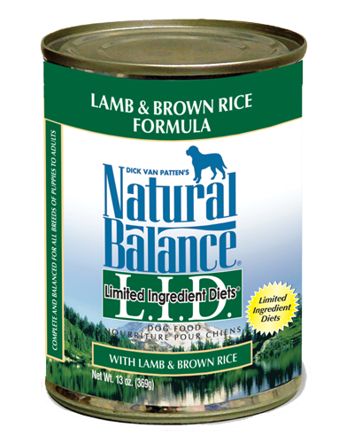 Picture of Natural Balance Limited Ingredient Diets Lamb and Brown Rice Formula - 13 oz.