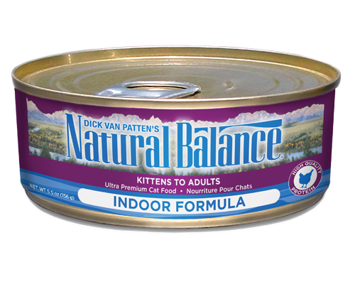 Picture of Natural Balance Ultra Premium Indoor Formula with Chicken - 5.5 oz.