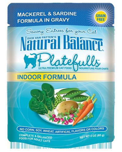 Picture of Natural Balance Platefulls Grain Free Indoor Mackerel and Sardine Formula in Gravy - 3 oz.