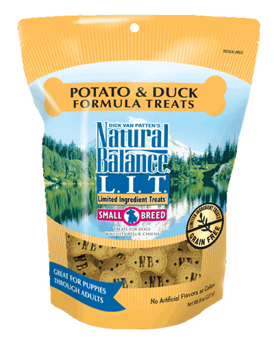 Picture of Natural Balance Limited Ingredient Treats Grain Free Potato and Duck Formula for Small Breeds - 8 oz.