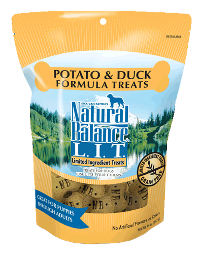 Picture of Natural Balance Limited Ingredient Treats Grain Free Potato and Duck Formula - 14 oz.