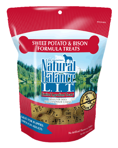 Picture of Natural Balance Limited Ingredient Treats Grain Free Sweet Potato and Bison Formula - 14 oz.