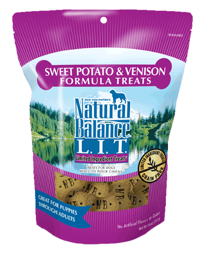 Picture of Natural Balance Limited Ingredient Treats Grain Free Sweet Potato and Venison Formula - 14 oz.