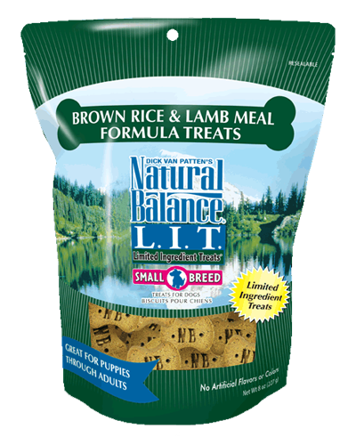 Picture of Natural Balance Limited Ingredient Treats Brown Rice and Lamb Meal Small Breed Formula - 8 oz.