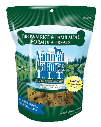 Picture of Natural Balance Limited Ingredient Treats Brown Rice and Lamb Meal Formula - 14 oz.