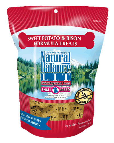 Picture of Natural Balance Limited Ingredient Treats Grain Free Sweet Potato and Bison Formula for Small Breeds - 8 oz.