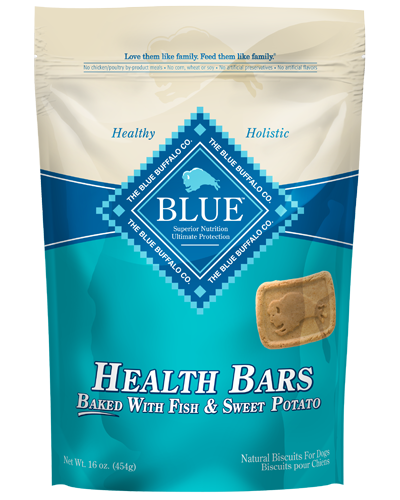 Picture of Blue Buffalo Health Bars Baked with Fish and Sweet Potato Natural Biscuits - 16 oz.