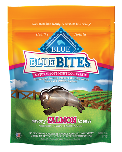 Picture of Blue Buffalo Bites Savory Salmon Recipe Soft-Moist Dog Treats - 6 oz.