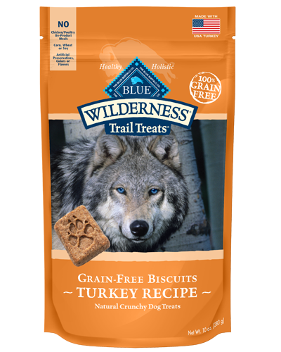 Picture of Blue Buffalo Wilderness Trail Treats Grain Free Natural Crunchy Turkey Biscuits - 10 oz.