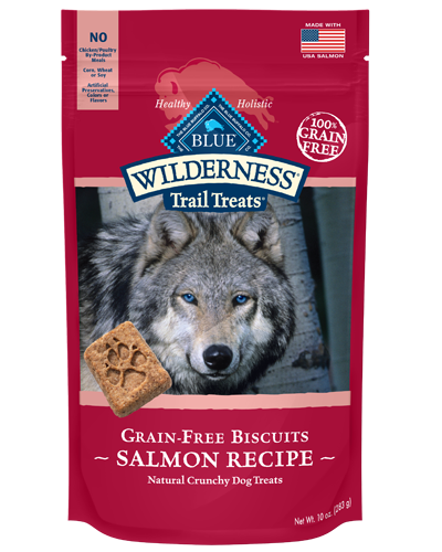 Picture of Blue Buffalo Wilderness Trail Treats Grain Free Natural Crunchy Salmon Biscuits - 10 oz.
