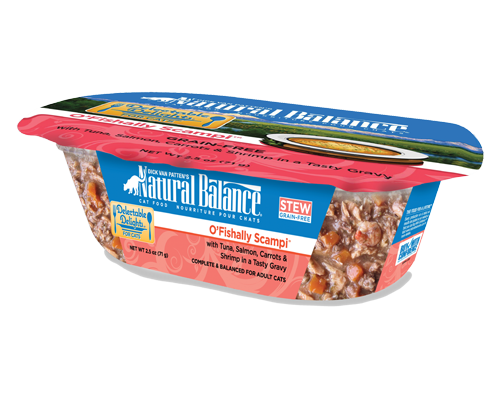 Picture of Natural Balance Delectable Delights Grain Free O'Fishally Scampi Stew with Tuna, Salmon, Carrots, & Shrimp - 2.5 oz.