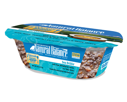 Picture of Natural Balance Delectable Delights Grain Free Sea Brulee Stew with Tuna, Whitefish, and Carrots - 2.5 oz.