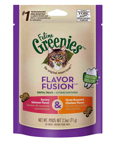 Picture of Feline Greenies Flavor Fusion Savory Salmon & Oven Roasted Chicken Dental Treats - 2.5 oz.