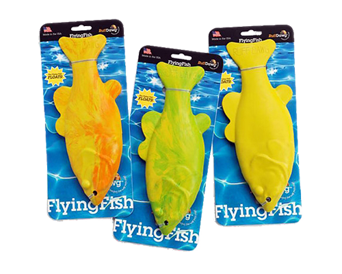 "Picture of Ruff Dawg Rubber Flying Fish - 11"" Assorted Colors"