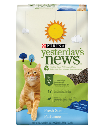 Picture of Purina Yesterday's News Softer Texture Fresh Scent Litter - 13.2 lb.