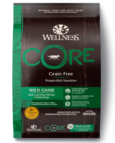 Picture of Wellness CORE Grain Free Wild Game Recipe with Duck, Lamb, Wild Boar, & Rabbit - 22 lbs.