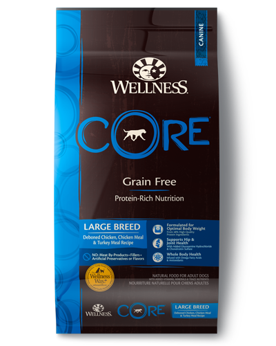 Picture of Wellness CORE Grain Free Large Breed Recipe with Chicken & Turkey Meal - 24 lbs.